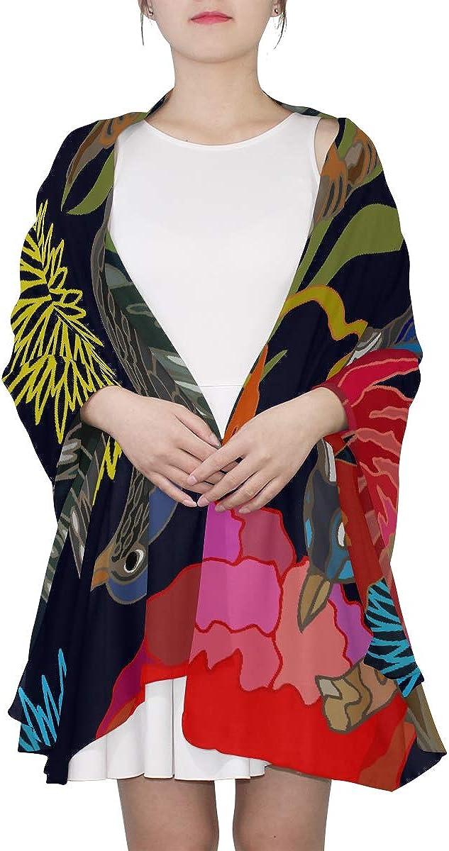 Triangle Scarf Lightweight Kawaii Japanese Garden Flowers And Birds Fashion Scarf Shawl And Wraps Lightweight Print Scarves Shawl Wrap Scarf Women Neck Scarf