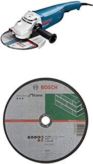 Bosch Professional GWS 22-230 H Corded 240 V Angle Grinder with Bosch Standard Stone Cutting Disc 230 x 3 x 22, 23 mm