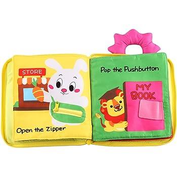 Emfay 赤ちゃん 布絵本 布のおもちゃ 知育玩具 ベビー用 おでかけ布えほん 出産祝い