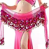 Reefa Ceinture Foulard/Jupe/Robe Costume pour Danse Orientale Danse de l'Inde Danse du Ventre pour Femme et Fille-Longueur Totale: 160cm / 62.99Pouces