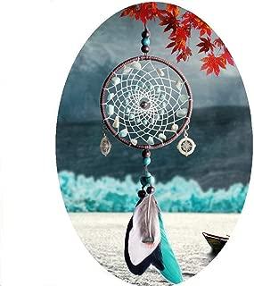 FIANUP Mini Dream Catcher Blue White Black Feather Handmade Wall Hanging Ornaments Girls Kids Bedroom Nursery Teepee Decor–Dia 4.5
