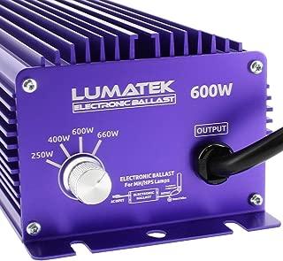 Lumatek LK6240 240V HPS-MH Dial A Watt Dimmable, 600W-400W-300W, 1 Lamp