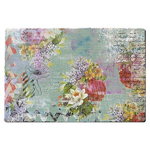1art1/® Chouettes Paillasson Essuie-Pieds Owls and Flowers 70 x 40 cm