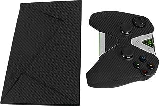 Skinomi Black Carbon Fiber Full Body Skin Compatible with NVIDIA Shield TV (includes Controller Kit)(2015)(Full Coverage) ...