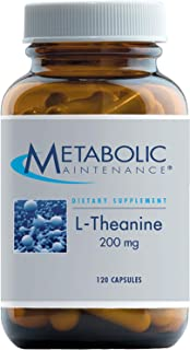Metabolic Maintenance L-Theanine - 200 Milligrams Suntheanine, Relaxation + Focus Support (120 Capsules)