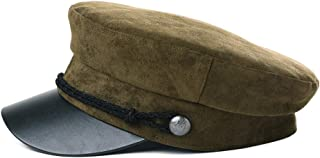 Fancet Womens Greek Fisherman Newsboy Cap Fashion Fiddler Lining Hat Winter Fall 55-60cm