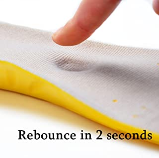 Shoe Insoles, Memory Foam Insoles, Providing Excellent Shock Absorption and Cushioning for Feet Relief, Comfortable Insoles for Men and Women for Everyday Use. (Yellow, M [US M: 6-9/W: 7-11])