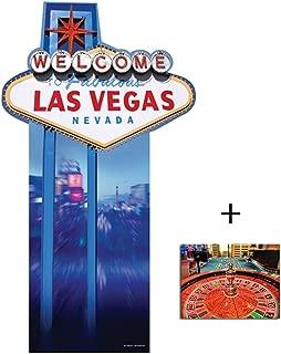 (Starstills UK) Fan Packs Vegas Sign - Poker Night Lifesize Cardboard Cutout/Standee/Standup - Includes 8x10 (20x25cm) Star Photo