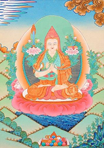 Exotic India Tsongkhapa–Eine Großartige Buddhistische Gelehrter Mönch und Reformer des Tibetischen Buddhismus–Tibetische Thangka Malerei