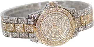 Smalody Luxury Women Watch Crystal Rhinestone Diamond Watches Ladies Dress Stainless Steel Wristwatch