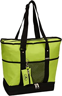 Everest Luggage Deluxe Shopping Tote, Lime/Black, Lime/Black, One Size