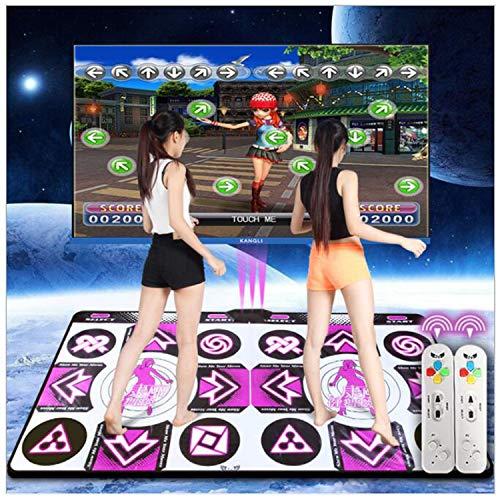 Drahtlose doppelte Tanzmatten, Stärke 30mm, Schaum-Spielmatten-Verdickungs-weiche Tanzmatten für Erwachsene / Kinder HD Fernsehcomputer Doppelt-Gebrauch englisches Handbuch