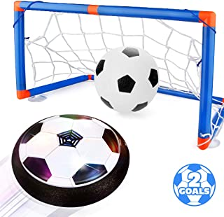 Blasland Kids Toys Hover Soccer Ball Set - Air Soccer Ball, Hovering Soccer Ball, Indoor Floating Soccer, LED Light and Foam Bumper, an Inflatable Ball Included, Sports Ball Game Toys for Boys Girls