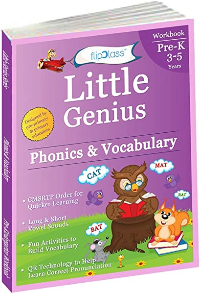 Phonics Vocabulary Pre Kindergarten Workbook Little Genius Series Learn Pronunciation Of Short Long Vowels Consonants And Build Vocabulary 3 5 Years