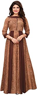 Readymade Long Gown Type Kurti Indian/Pakistani Cotton Rayon Kurti for Women