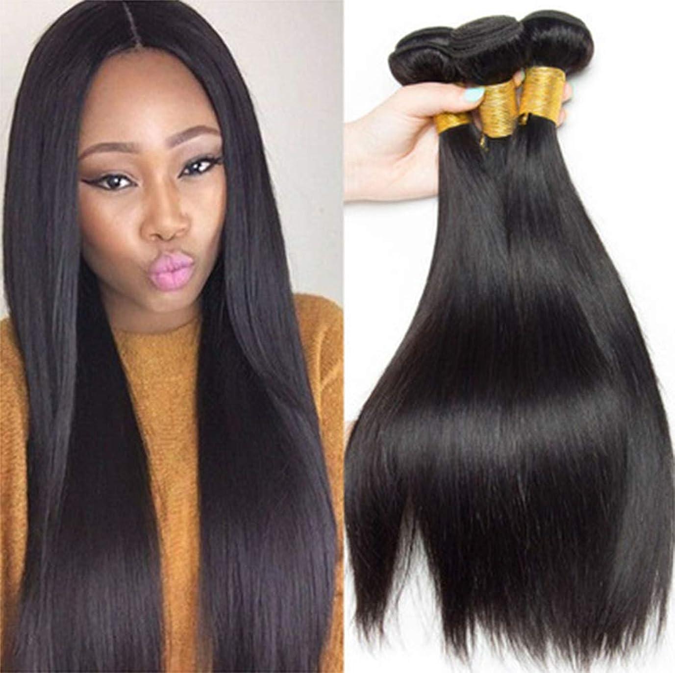 ナイトスポット懐疑的再現する女性の髪織り密度150%ロング1バンドルブラジルレミーペルーストレートヘアロングストレート人間の髪