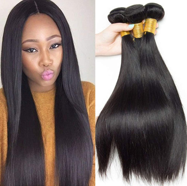 シリンダー貫通する負女性の髪織り密度150%ロング1バンドルブラジルレミーペルーストレートヘアロングストレート人間の髪