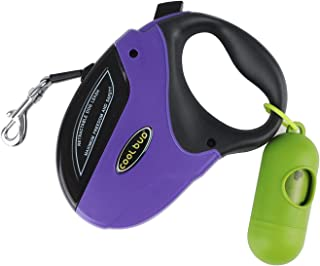 PetsKing Dog Retractable Leash Heavy Duty Walking Leash Extendable Belt with Nylon Ribbon Cord for Small,Medium & Large Dogs, Hand Grip,Retractable Tangle Free,One Button Brake & Lock
