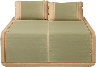 LITT Cool Mattress,Bedding Straw Mat Summer Sleeping Mats Bed-mat Collapsible Double-Sided Use with Pillowcases, Grass/ice...