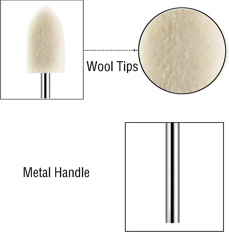 1//4in Shank Diameter Mixed Suit Diamond File Set Rotary File Mixing Set Rotating Tool Mix Set 20pcs Set 6mm