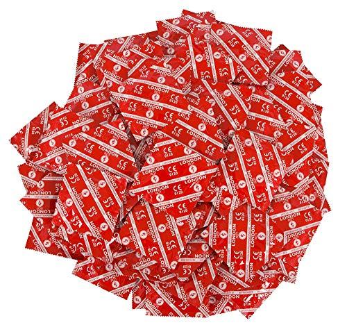 London Kondome mit Erdbeeraroma Rot