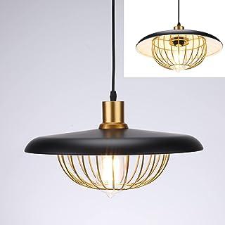 Asvert Suspension Luminaire Industrielle Forme lanterne Lustre Vintage Eclairage de Plafond Rétro Lampe Pendante E27 Plafo...