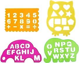 und Zahlen-Schablonen Alphabet Schablonen Gro/ße Hotel-Willkommenszeichen-Schablonen Set mit 8 einzelnen Schablonen zum Selbermachen eines Willkommenszeichens XM-Amigo 10-teiliges Set 2 Buchstaben