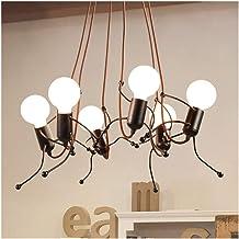 Kitchen Simple Personality Pendant Light Nordic Art Fixture Bar Iron Man Lamp Lamp Bedside Led Ceiling Light