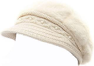 Women Winter Knit Crochet Newsboy Caps Lady Warm Pearl Knit Beanie Hat