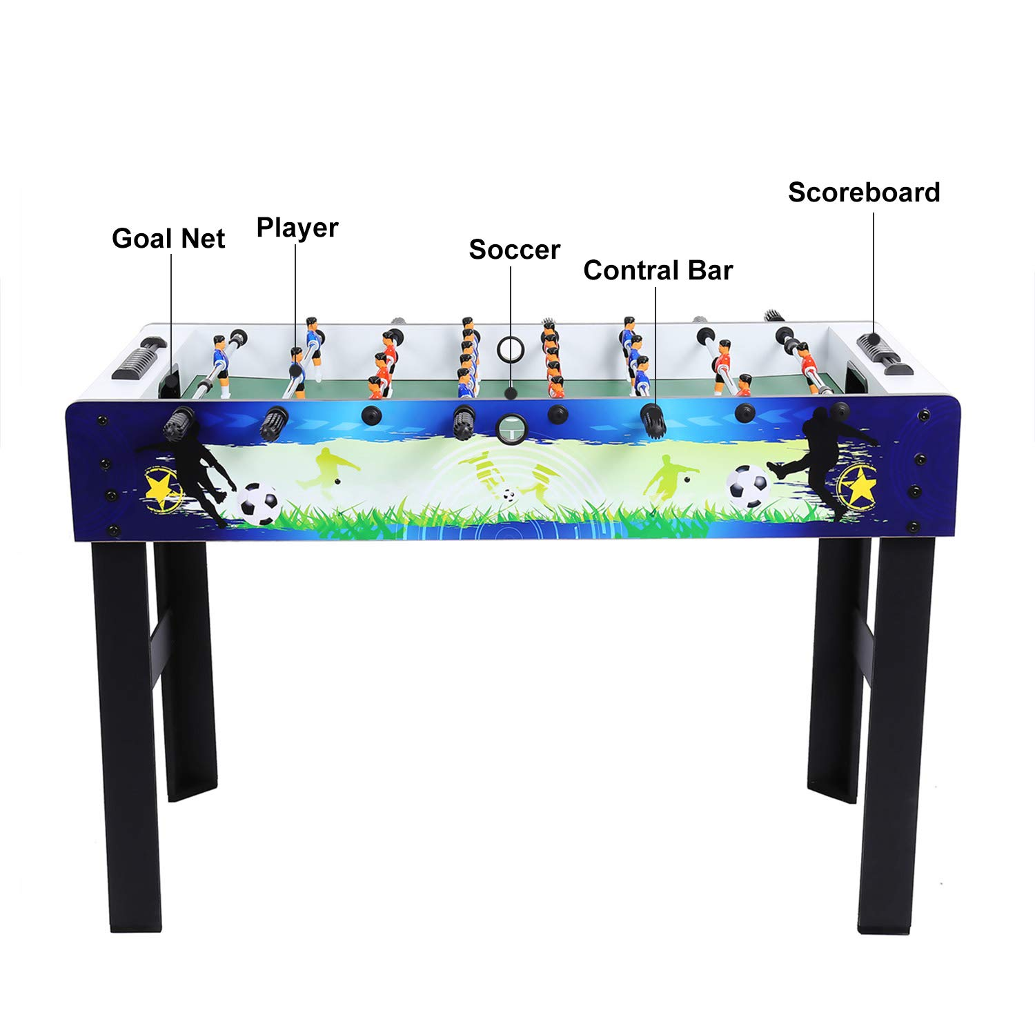 ANCHEER 48 Inches Foosball Table