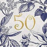Libro de visitas 50 años: Regalo de cumpleaños mujer 50 años | Libro de recuerdos, felicitaciones y agradecimientos para los invitados | Decoración vintage | Libro de visitas 50 cumpleaños
