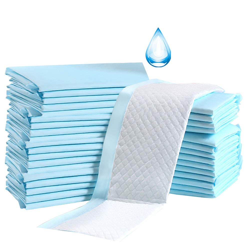 Buyockss Baby Disposable Underpad Incontinence Changing Pads 200 Count Baby Diapers with Soft Non Woven Fabric Breathable Waterproof Leak Proof Quick Absorb 13x18in 2x100pcs