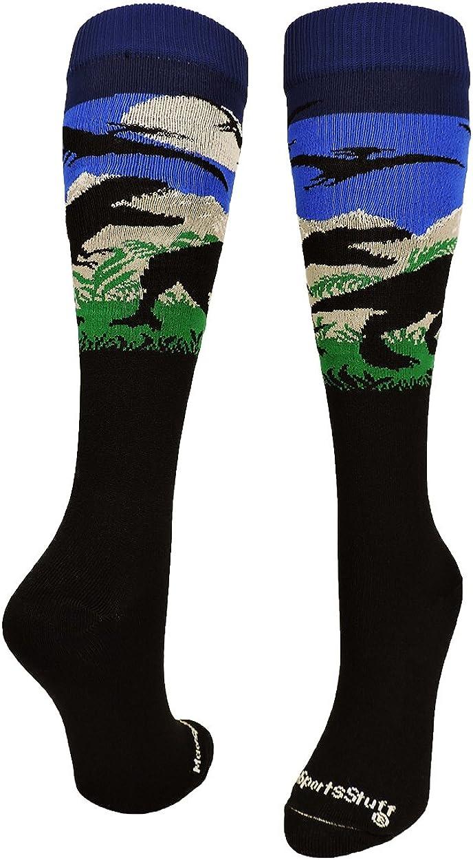 MadSportsStuff Wild T-Rex Dinosaur Socks Over The Calf