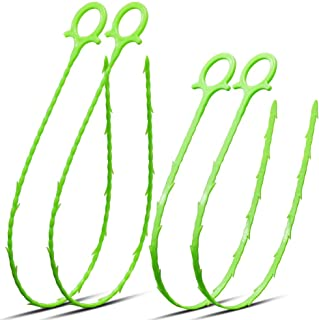 AWINNER 3D Comprehensive Cleaning of Sewerage,Snake Bending Sewer Cleaner Drain Hair Clog Remover Cleaning Tool-4 Pack