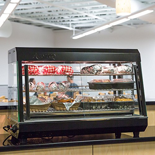 Fantastic Prices! Food Display,36 inch. Self Service 3 Shelf Countertop Heated Display Warmer with S...
