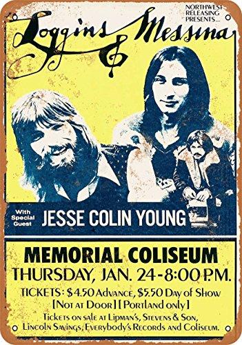 Wall-Color 9 x 12 Metal Sign - 1974 Loggins & Messina in Portland - Vintage Look