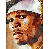 JR Bouvier 50 Cent Rapper Large Art Print Poster 18x24 inch