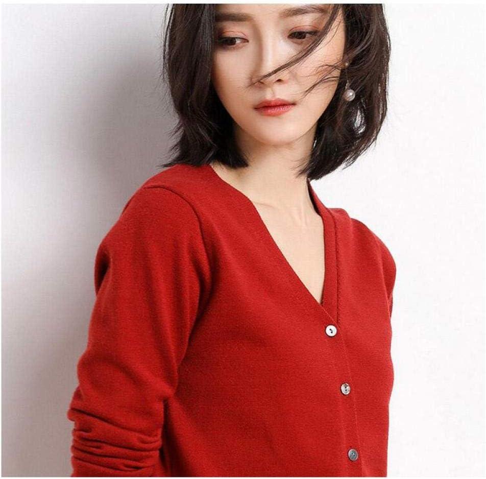 Lztly Sweater Women Knitted Directly managed Sacramento Mall store Cardigan Autumn Neck V Long