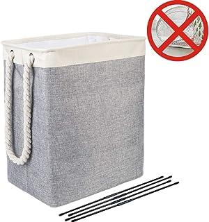 Nifogo Cubo Plegable de Lino y algodón Cesta para la Ropa
