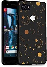 HelloGiftify Golden Horoscope TPU Black Soft Gel Protective Case. Compatible with Google Pixel 2XL