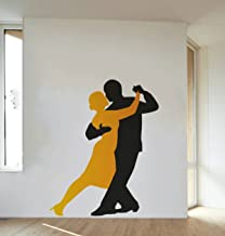 Rawpockets 'Salsa Dance ' Wall Sticker (PVC Vinyl, 75 cm x 90cm)
