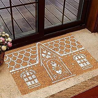 Gingerbread House Doormat Entrance Mat Rug Outside Patio/Inside Entry Way, Non Slip Backing Funny Doormat Indoor Outdoor Rug
