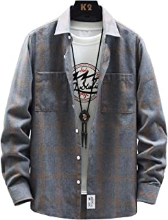 [クーパーアンドコー] 4カラー M~3XL チェックシャツ カジュアル 長袖 ゆったり シャツ きれいめ 羽織 メンズ