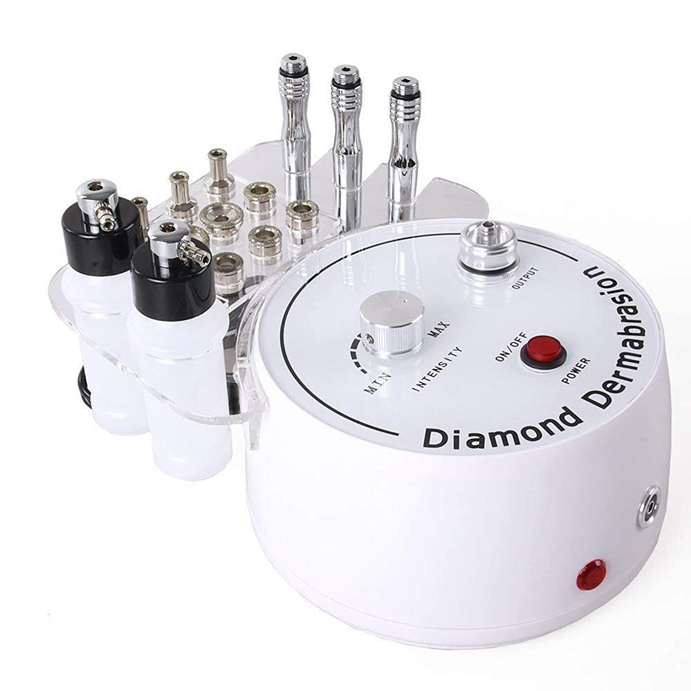 誕生アレンジ上院議員3 in 1ダイヤモンドマイクロダーマブレーションマシン、プロフェッショナルダイヤモンドダーマブレーションマシンパーソナルケア用のフェイシャルケアサロン機器、チップとワンド付き