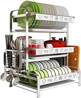 BNMKL Égouttoir étagère pour Fournitures de Cuisine comptoir de Rangement Organisateur Porte-ustensiles Affichage en Acier...