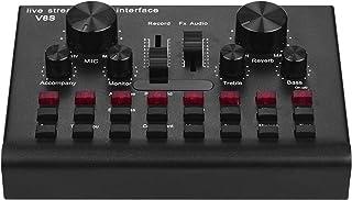 بطاقة صوت مباشرة متعددة الوظائف للبث المباشر وواجهة صوتية بمنفذ USB، جهاز صوتي وتنسيق الأغاني وكاريوكي وتسجيل الموسيقى، مع...