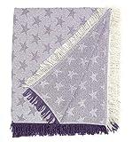 Martina home foulard multiusos- Plaid modelo Estrella - tela 180x260 cm, color crudo lila