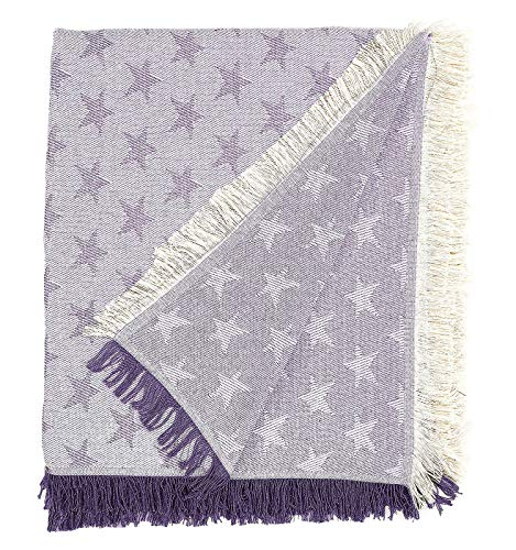 Martina home foulard multiusos- Plaid modelo Estrella - tela 230x260 cm color crudo lila