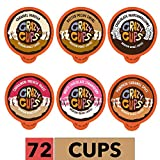 Crazy Cups Flavored Coffee Pods Variety Pack, Medium Roast Flavored Coffee K Cups Variety Pack (Including Pumpkin), Single Serve Coffee in Recyclable Coffee Pods for Keurig K cups Machines, 72 Count