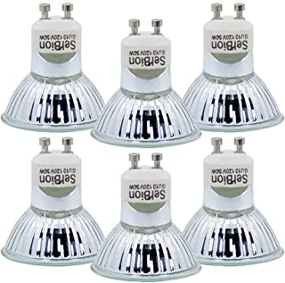GU10 Halogen Light Bulb, MR16 Light Bulbs 120V/50W, Glass Cover & Dimmable, 500..
